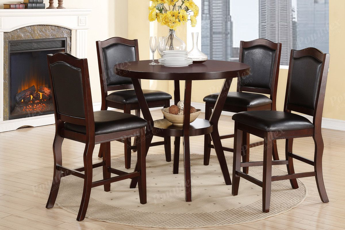 Poundex Dining chair F Piece Counter height table Tables