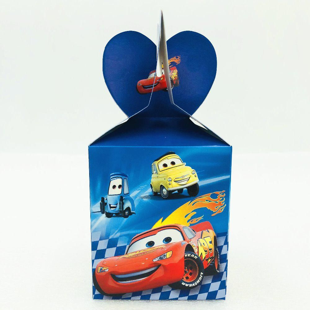 6 pcs/set Lightning Mcqueen kids birthday party supplies Popcorn Box case  Gift Box Favor Accessory Birthday Party decoration 1. Yesterday's price: US  $3.79 ...