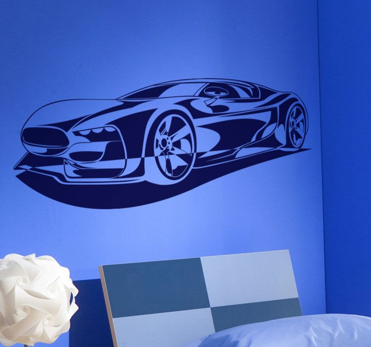 This amazing sports car wall sticker will look beautiful in your room! & This cool wall decal will make your wall look great! A must-have for ...