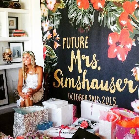 The Best Wedding Items From Etsy Bridal Shower Tropical Bridal