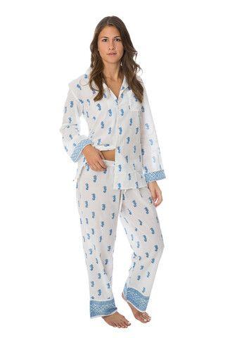 452f53e531 Seahorse Blue Penelope Pajamas