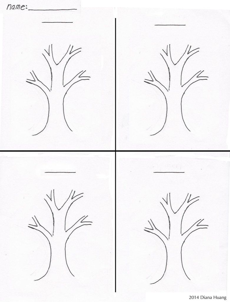 Four Seasons Tree Drawing Template Worksheet By Diana Huang Deviantart Com On Deviantart Tree Drawing Drawing Templates Preschool Creative Art [ 1022 x 781 Pixel ]