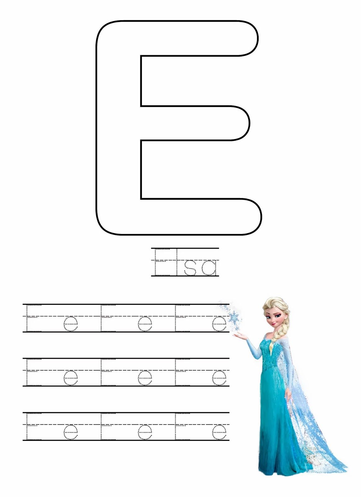 Free Frozen Writing Worksheets With Images Writing Worksheets