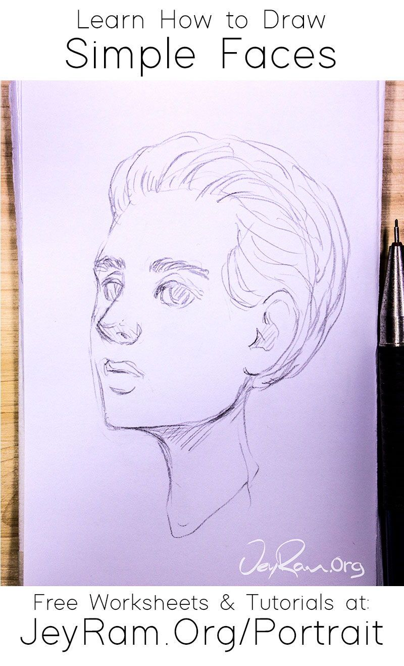 How To Draw Simple Faces Tutorial Series In 2020 Art Drawings Drawing Tutorial