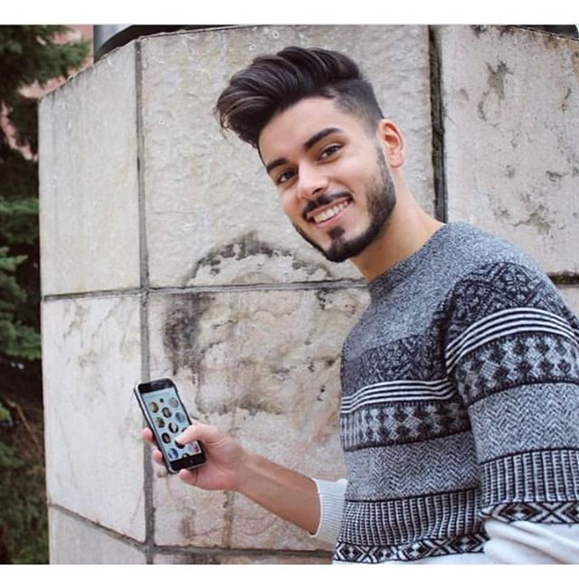 @abbasmomo | Photography poses for men, Cool hairstyles