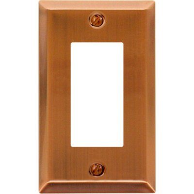 Montage Traditional Steel 1-Gang Decorator Rocker Wall Plate