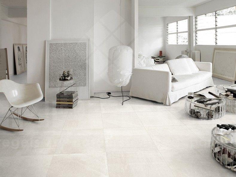 woonkamer, modern interieur, keramische vloertegel travertin ...