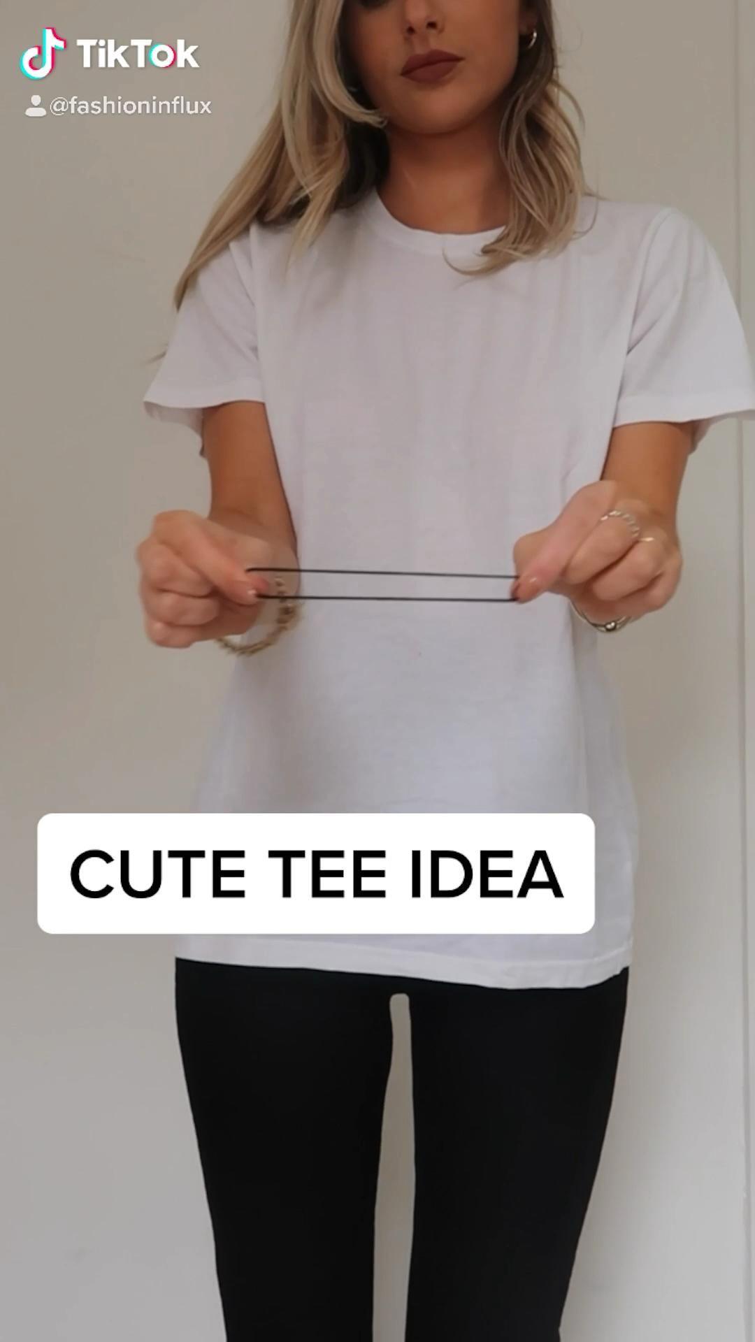 Cute t-shirt DIY @fashioninflux