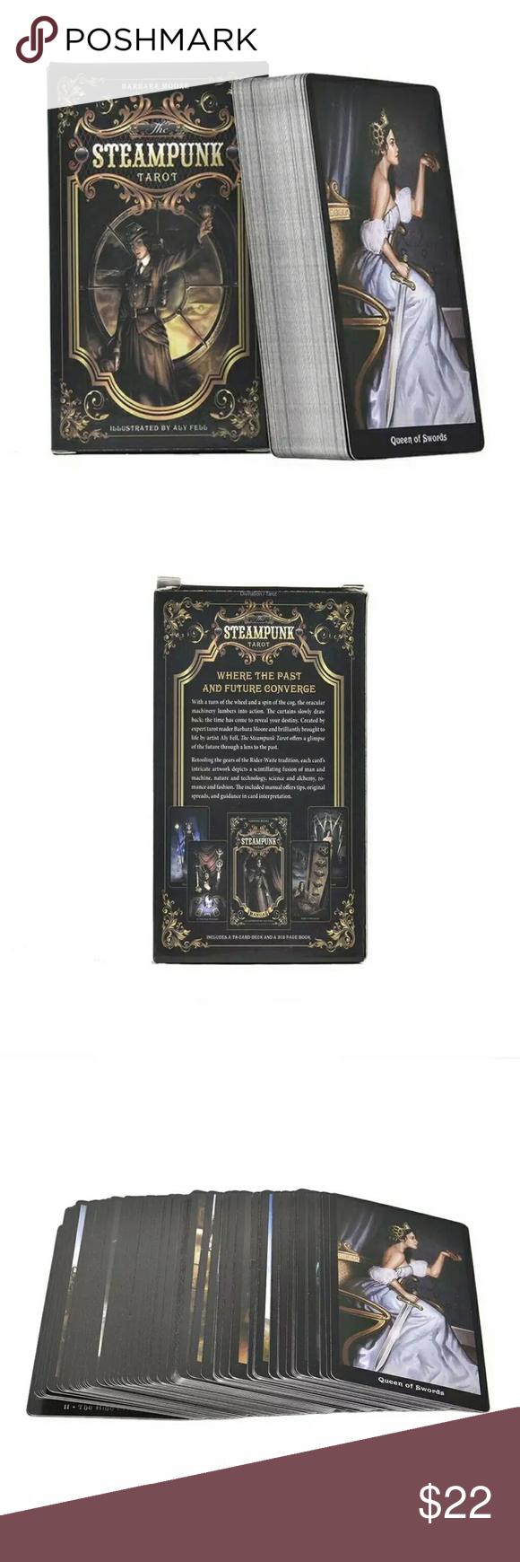 The Steampunk Tarot A 78 Card Deck The Steampunk Tarot deck offers a glimpse of the future through