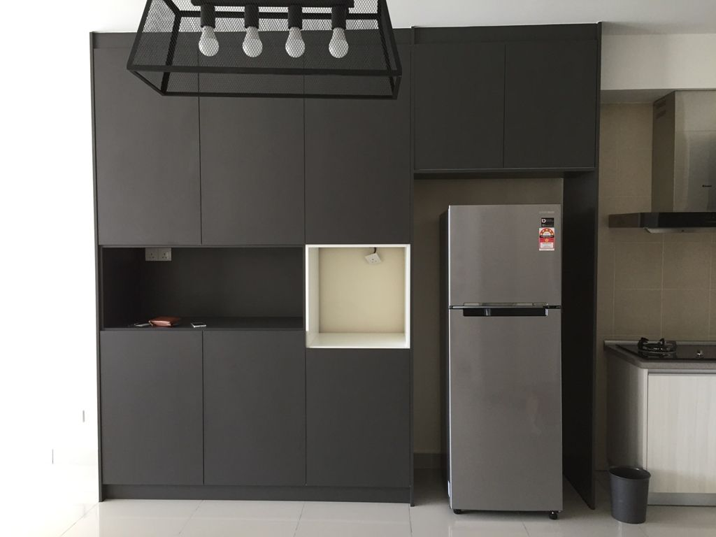 drykitchen #darkgrey #laminate #cabinet #ICA #goldencarpentry ...