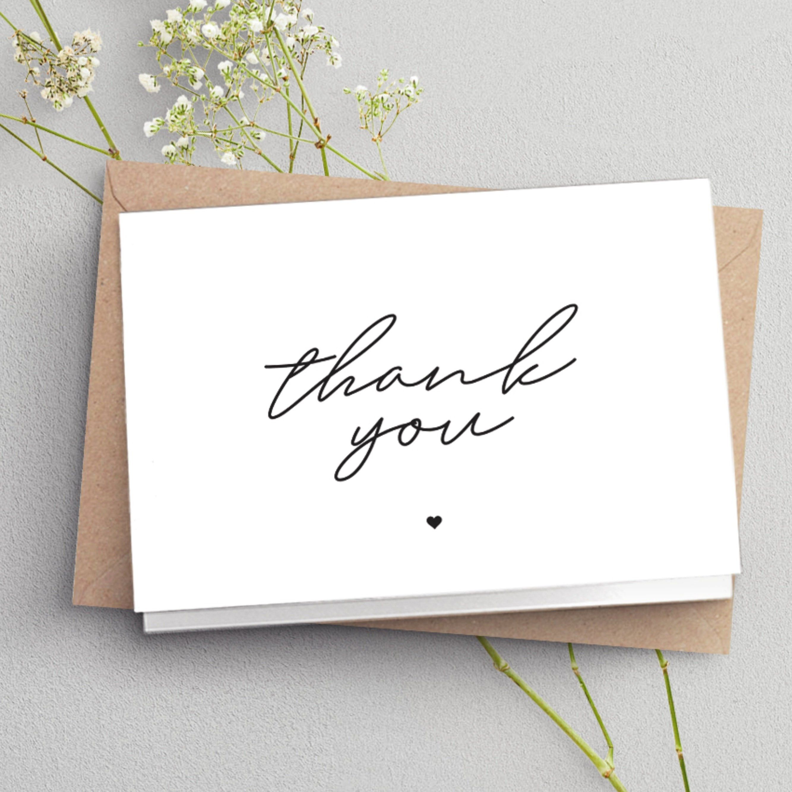 folded thank you cards wedding thank you card simple