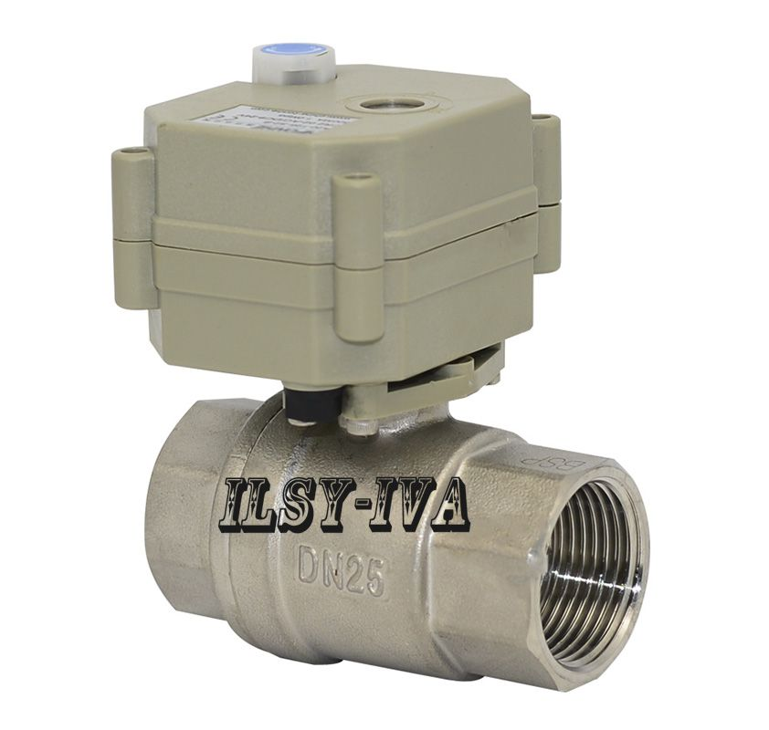 Ac110v 230v Dn25 2 Way Electric Ball Valve Stainless Steel Cr2 02 Cr5 02 Motorized Ball Valve Water Valves Valve