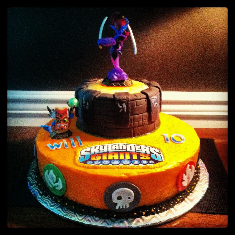 Pleasing Skylander Birthday Cake Skylanders Birthday Skylanders Birthday Funny Birthday Cards Online Inifofree Goldxyz