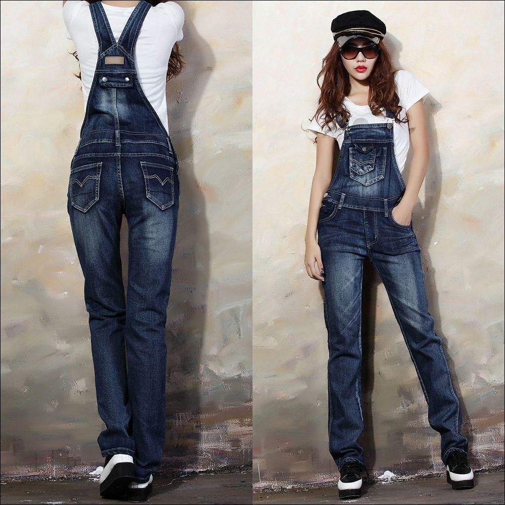 hot product uk availability new selection Denim Jumper Pants | Coat Pant | Stuff to Buy | Women's slim ...
