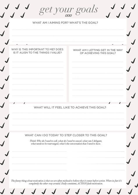A Goal Setting Worksheet That Wasn't Made In The 90's | business ...