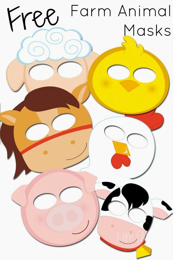 free farm animal mask printables great for pretend play and just having fun in the - Animal Pictures To Print Free