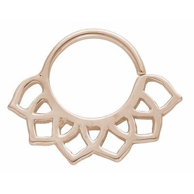 SOLID 14K gold 16g 5/16 diameter Seamless ring-