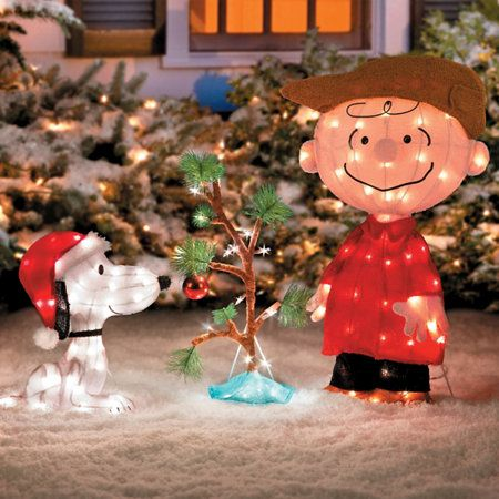 Charlie Brown Snoopy The Lonely Tree Christmas Decor Christmas Yard Decorations Brown Christmas Decorations Outdoor Christmas Decorations