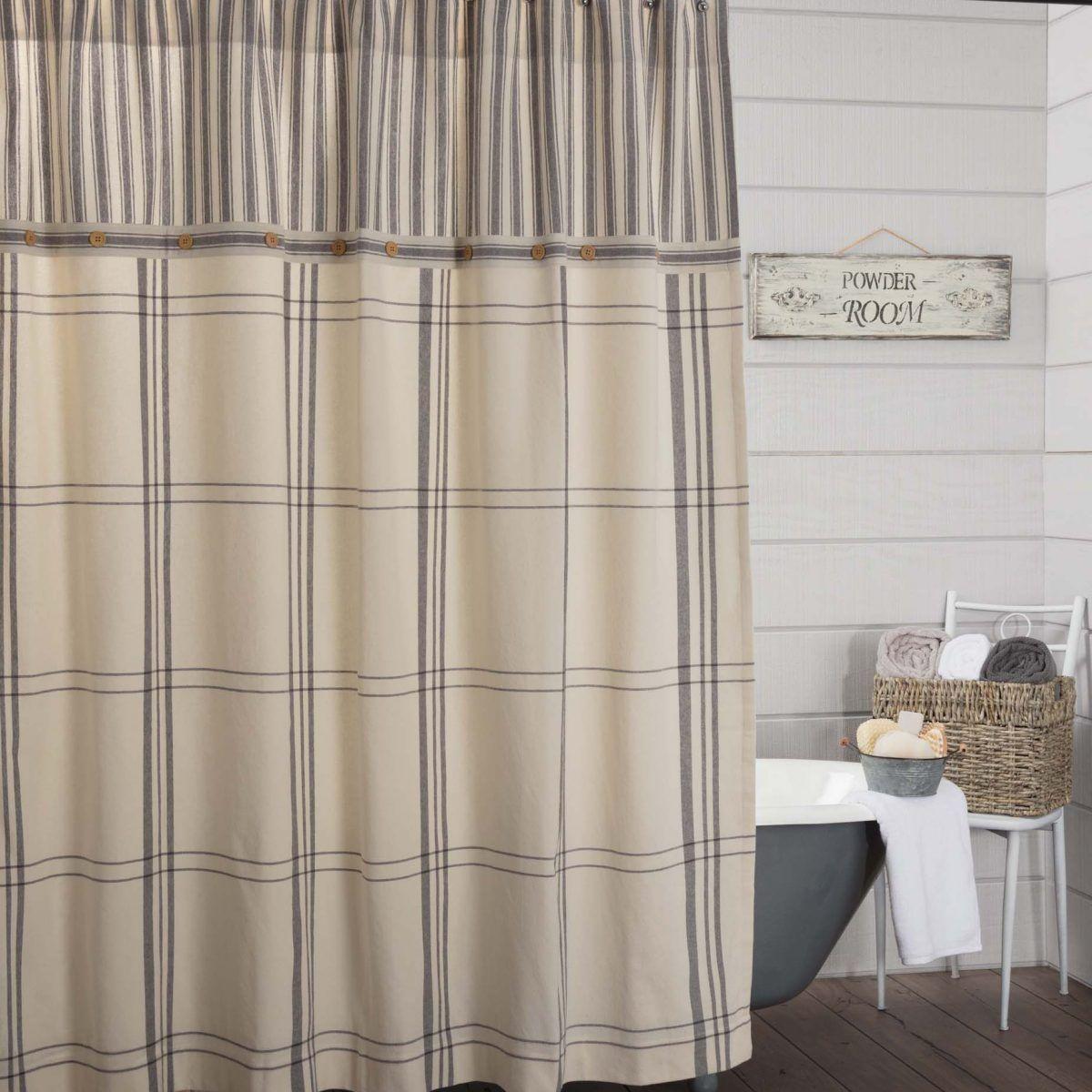 Market Place Shower Curtain Farmhousehappy Rusticfarmhouse Countryfarmhouse Farmhousebathroom Fa Plaid