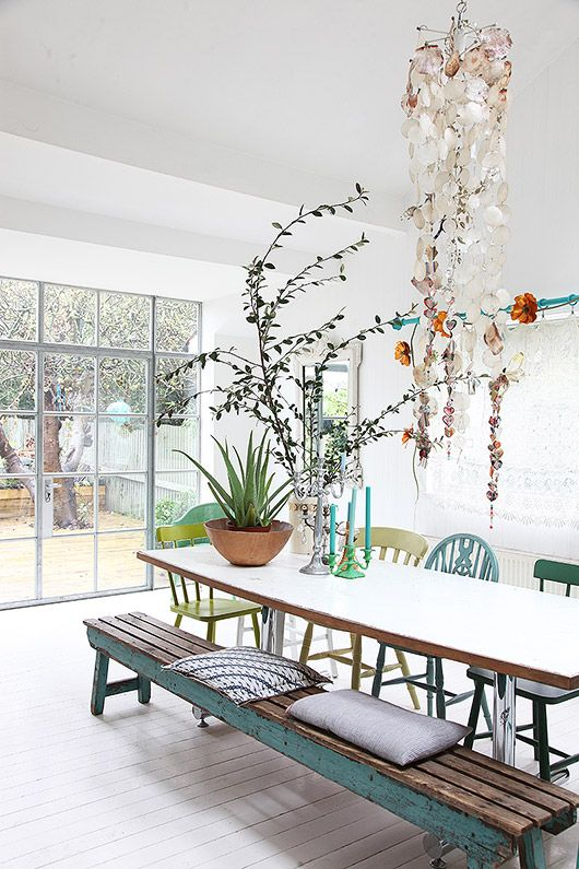 A Lovely London Home With Pops Of Pastel Dining Room Lighting Dining Room Inspiration Home Decor
