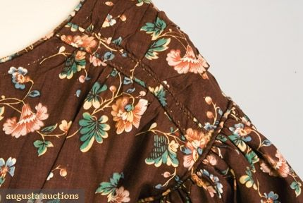 FLORAL ROLLER PRINTED COTTON DRESS, 1825-1835   Tasha Tudor Historic Costume Collection heres a close up on that detale