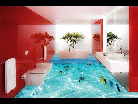أرضيات حمامات 3d أرضيات سيراميك ثري دي روعة اجمل وارقى أرضيات ثلاثية الأبعاد Youtube Floor Design Bathroom Flooring Floor Murals