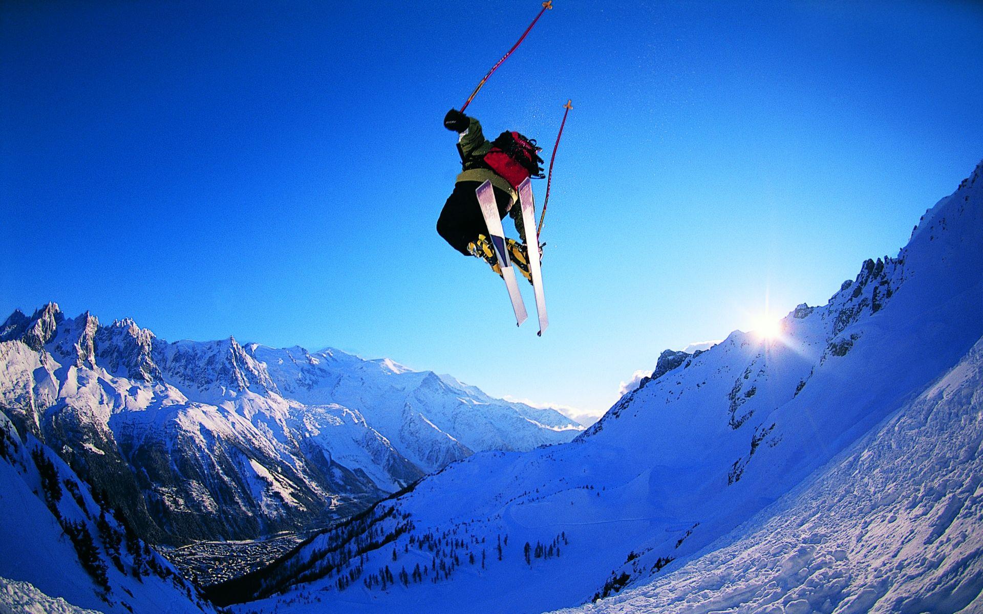 небольшой картинка на небе солнце люди на лыжах неприхотлив