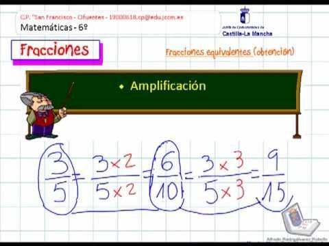 Fracciones Equivalentes Amplificación Y Simplificación Fracciones Matematicas Fracciones Fracciones Equivalentes