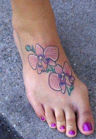 24c8f451b flower tattoos on foot | Jeff Johnson - Foot Orchid Tattoo | My home ...