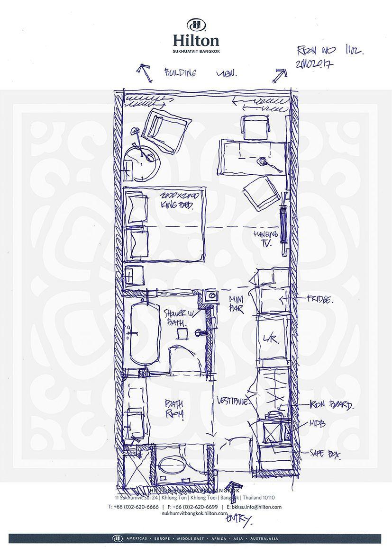 Hotel Room Plan: Hilton Sukhumvit Bangkok
