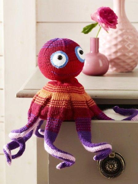 Anleitung Für Eine Amigurumi Strickkrake Häkeln Spielzeug