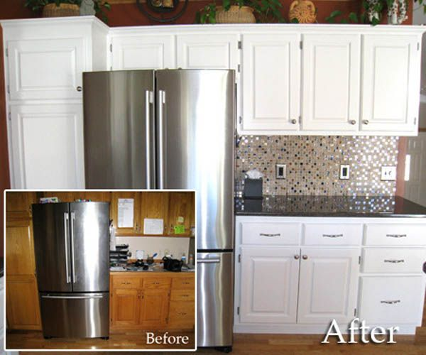 Delightful Brilliant Kitchen Refacing Ideas Before And After Bring Warmth And  Character In Cost To Paint Kitchen