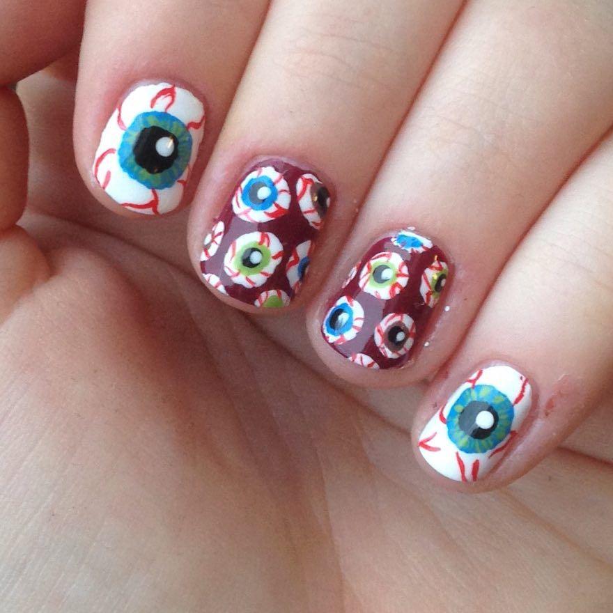 @nnmnails on Instagram: halloween eye ball nail art ...