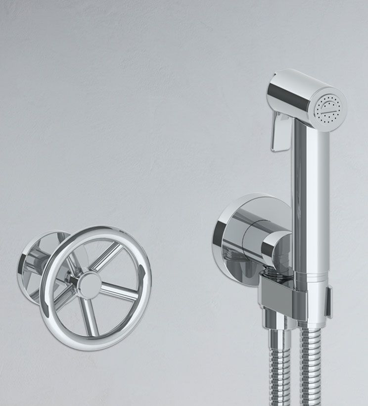 Bro60 Wall Mounted Bidet Spray Set With Hydroprogressive Mixer
