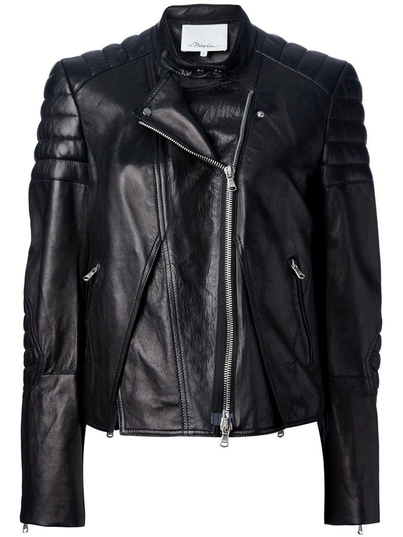 3.1 PHILLIP LIM cross front biker jacket