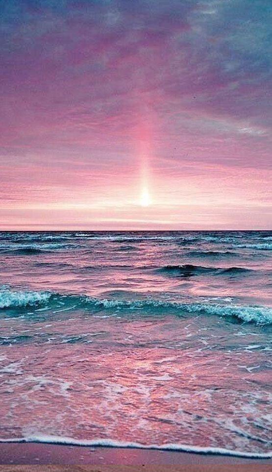 Фон, на море | Фиолетовый закат, Живописные пейзажи