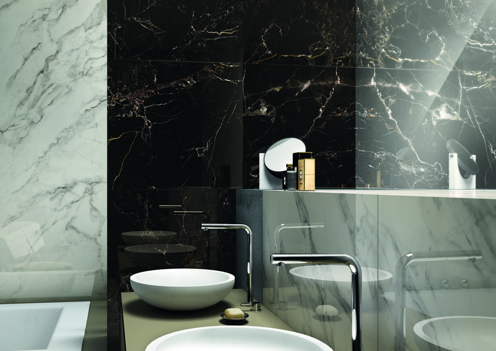 Bathroom Surfaces In Anima Select Porcelain Stoneware Ceramic Tiles
