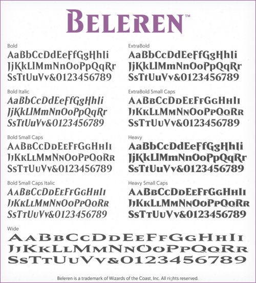 Creation Of The Beleren Typeface Typeface Download Fonts Free Typeface