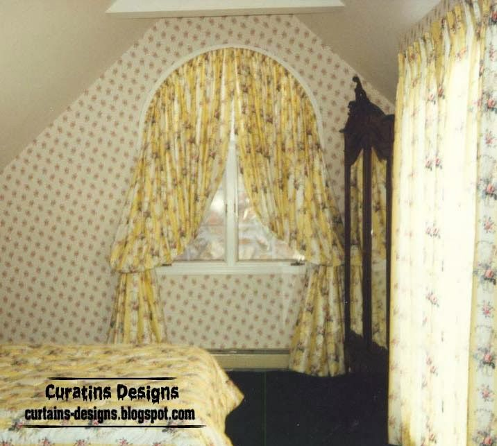 Arched Windows Curtain Design Ideas For Bedroom, Arched Curtain Rod