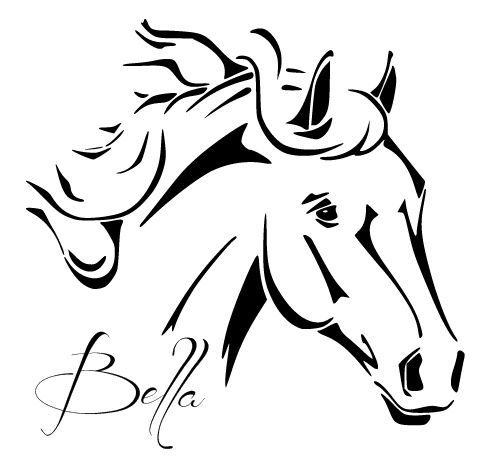 kleurplaten paardenhoofd