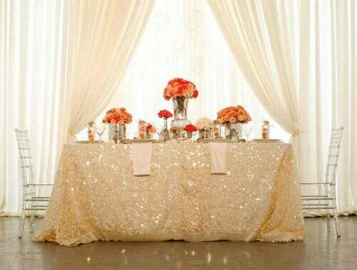 Sparkly Table Cloth For Sweetheart A Sparkle Tablecloth Saving This Wedding Seems Mean It Should Be An Everyday