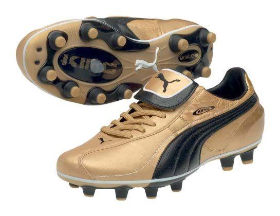 gold puma boots