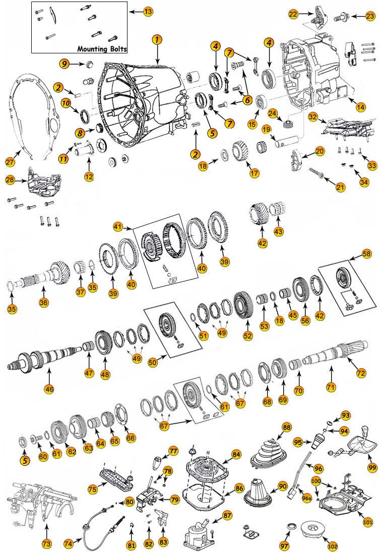 small resolution of daimler nsg370 6 speed transmission parts