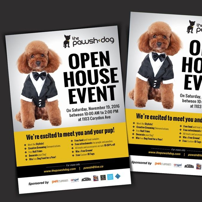 Open House Event Flyer for Pawsh Dog Salon by