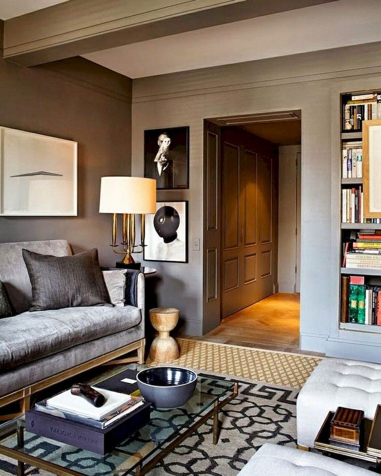 54+ Cozy Modern Farmhouse Living Room First Apartment ...