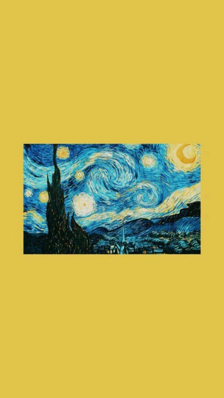 Pin By S Y L V I A On W A L L P A P E R Starry Night Wallpaper Van Gogh Wallpaper Starry Night Van Gogh
