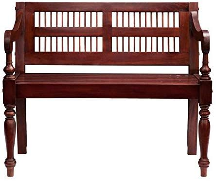 Southern Enterprises Classic Entryway Bench With Turned