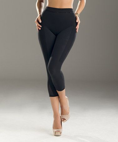 Another great find on #zulily! Black Invisible Shaper Leggings - Women #zulilyfinds