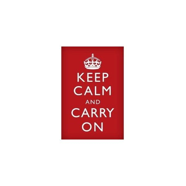 Keep Calm and Carry On Retro Poster