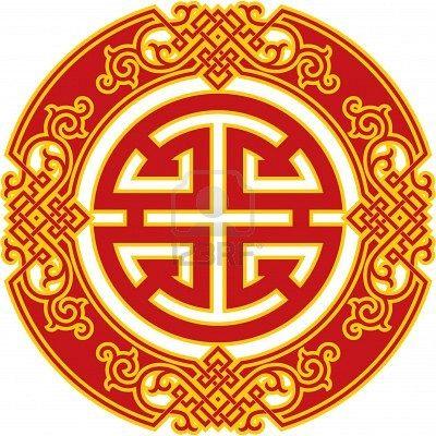 Oriental Patrón Símbolo Chino Suerte En La Profesión Simbolos Chinos Simbolos Simbolos De Suerte